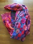 crinkle like scarf with multi colors