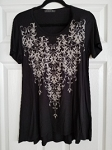 Vneck Black Tunic top