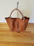 large rust purse
